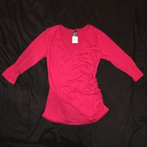 NWT OH BABY by Motherhood Breastfeeding Top Red M